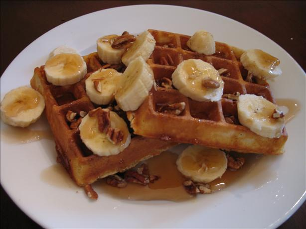 Friday: Waffles with Bananas & Pecans- I made these for breakfast on ...