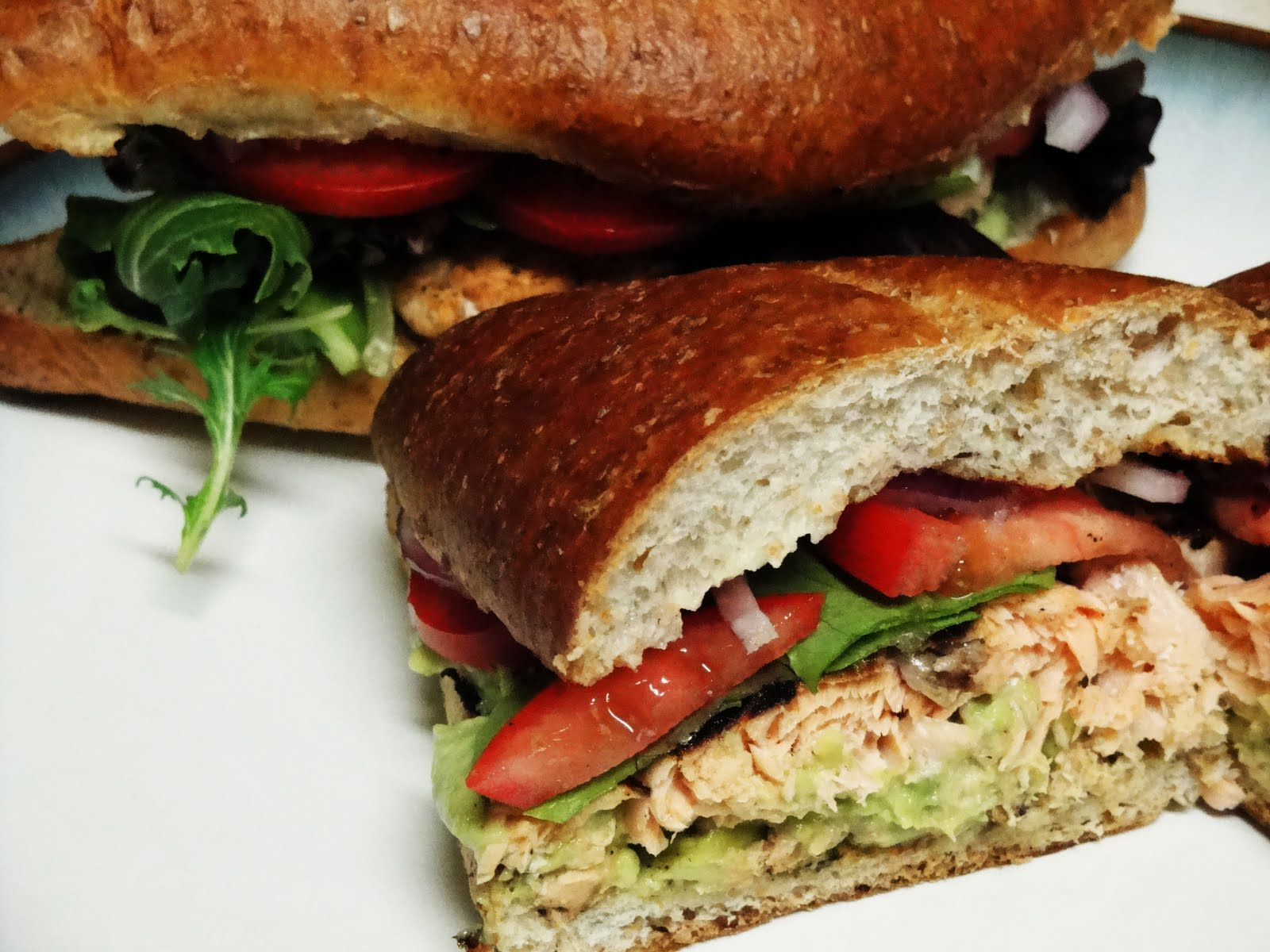 Blackened Salmon Sandwich - New Recipe. Wow this was really great. A ...