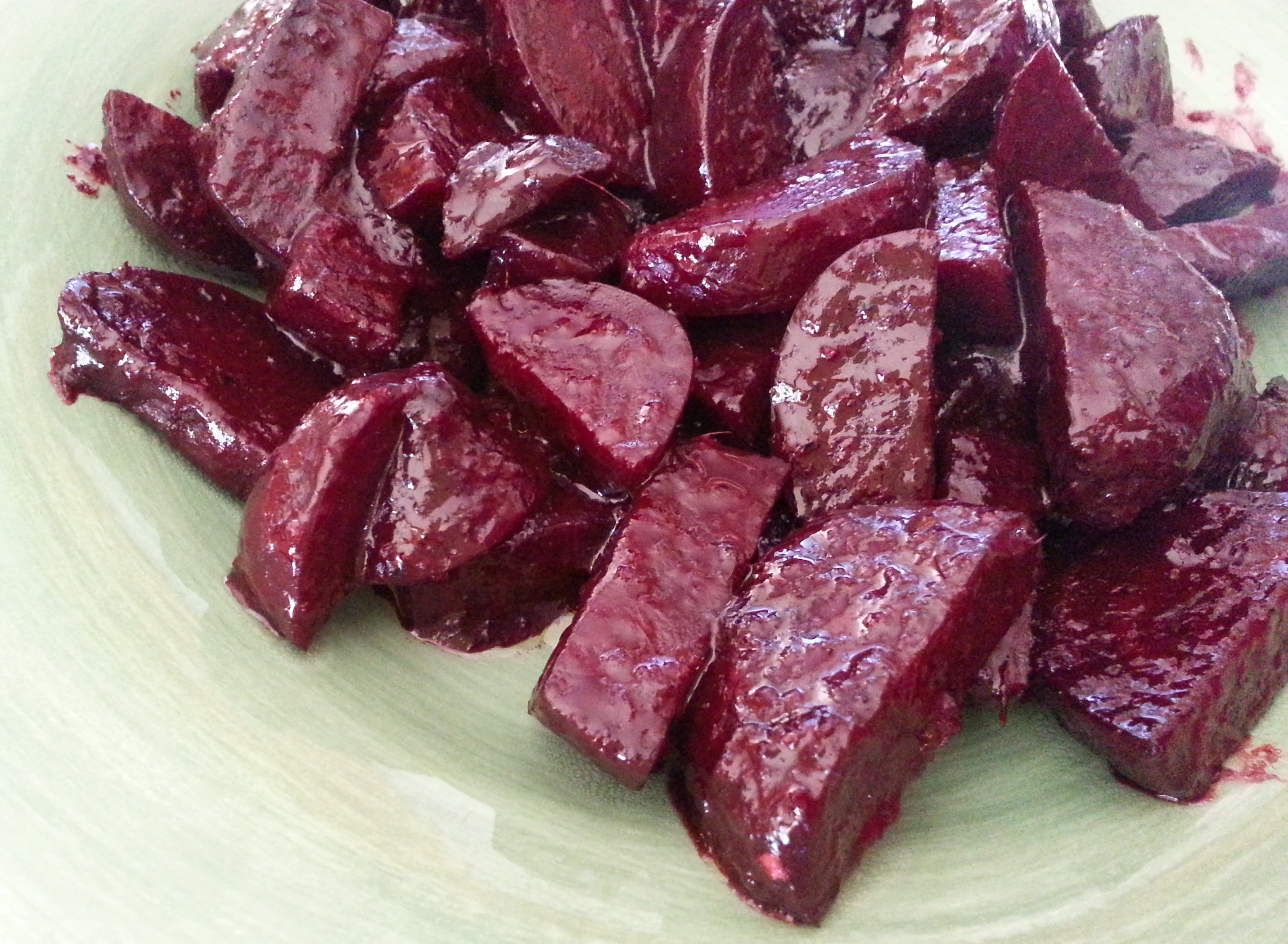Roasted Beets with Ginger Balsamic Glaze |