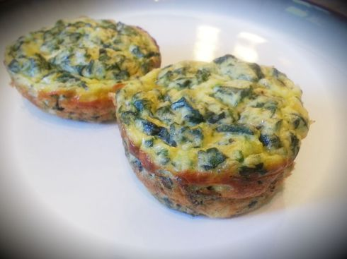 spinach frittatas